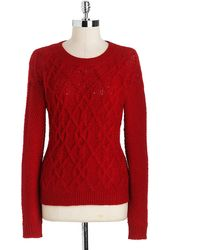 DKNY Cableknit Sweater - Lyst
