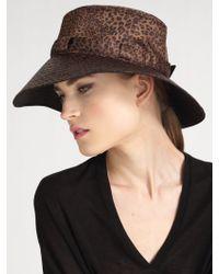 Eric Javits Kaya Leopard Rain Hat - Lyst
