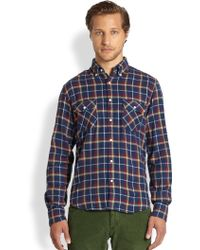 Gant Rugger Twill Flannel Shirt - Lyst