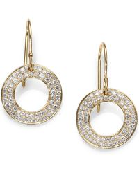 Ippolita Diamond & 18K Gold Circle Drop Earrings - Lyst