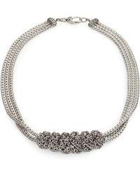 John Hardy - Sterling Silver Slider Pendant Multi-strand Necklace - Lyst