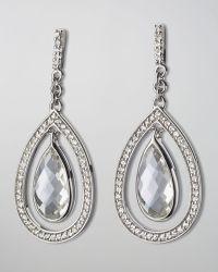 Monica Rich Kosann - Sapphire-Trim Rock Crystal Teardrop Earrings - Lyst