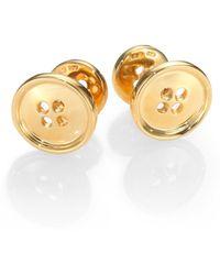 Robin Rotenier - Button Cuff Links/18k Gold Vermeil - Lyst