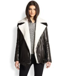 Timo Weiland - Jayci Leather Shearling Moto Jacket - Lyst