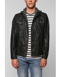 Urban Outfitters Charles 12 Vegan Leather Hooded Jacket - Lyst