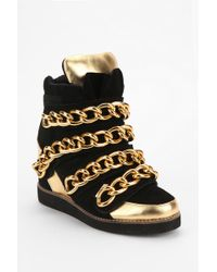 Urban Outfitters - Jeffrey Campbell Chunky Chain Hightop Sneaker - Lyst