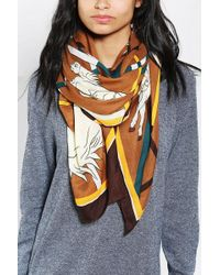 Urban Outfitters - Equestrian Oversized Square Scarf - Lyst