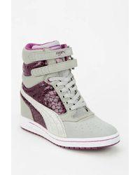 Urban Outfitters - Puma Sky Wedge Shine Hidden Wedge Hightop Sneaker - Lyst