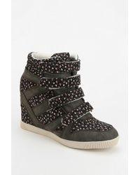 Urban Outfitters - Bdg Floral Strap Hidden Wedge Hightop Sneaker - Lyst