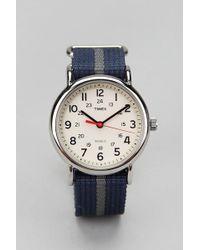 Timex® Striped Band Weekender Watch - Lyst