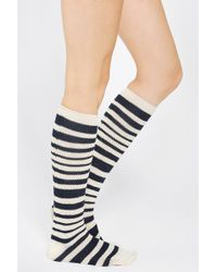 Urban Outfitters - Marled Soft Stripe Kneehigh Sock - Lyst