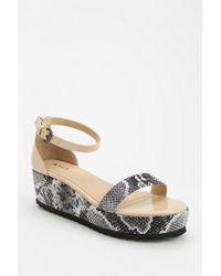 Urban Outfitters Nyla Jenna Reptile Flatform Sandal - Lyst