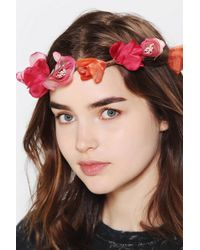 Urban Outfitters - Roses Flower Crown Headwrap - Lyst