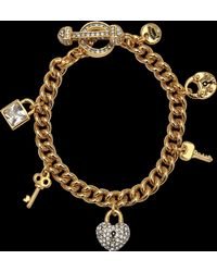 Juicy Couture - Key Lock Charms Bracelet - Lyst