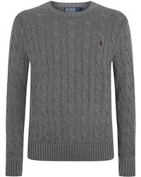 Polo Ralph Lauren Crew Neck Cable Knit Sweater - Lyst