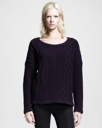 Rag & Bone Cara Oversized Cable Pullover - Lyst