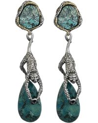 Alexis Bittar Mauritius Gold Antique Rhodium Hanging Spider Monkey Clip Earrings - Lyst