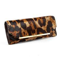 Brahmin - Alexis Leopard Print Calf Hair Clutch - Lyst