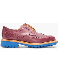Mark McNairy New Amsterdam Burgundy Leather Blue-soled Wingtip Brogues - Lyst
