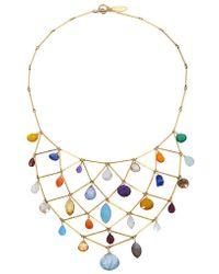 Wendy Mink Multi-Stone Bib Necklace - Lyst