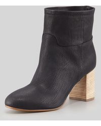 Giuseppe Zanotti Stacked-Heel Leather Ankle Boot - Lyst