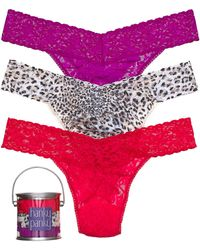Hanky Panky Thong Exclusive 3 Pack Original Rise - Lyst