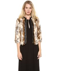 Twelfth Street Cynthia Vincent - Leather Placket Faux Fur Jacket - Lyst