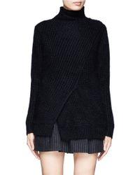 3.1 Phillip Lim Wool angora Knit Sweater - Lyst
