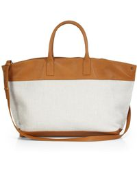 Akris Ai Medium Canvas & Leather Convertible Tote - Lyst