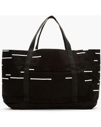 DRKSHDW by Rick Owens - Black and White Canvas Extra Large Tote - Lyst
