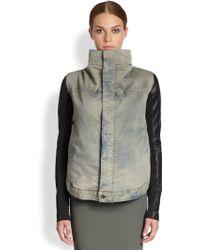 DRKSHDW by Rick Owens - Denim Leather Jacket - Lyst