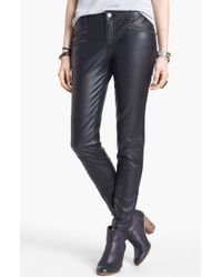 Free People Faux Leather Skinny Pants - Lyst