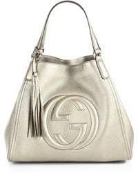 Gucci Soho Metallic Leather Shoulder Bag - Lyst