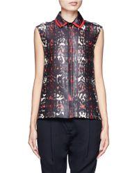 Preen By Thornton Bregazzi Robyn Printed Sleeveless Shirt - Lyst