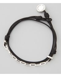 Catherine Zadeh - Sterling Silver Links Cord Bracelet Black - Lyst