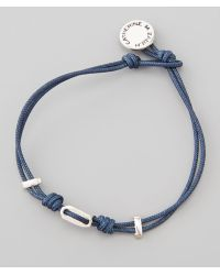 Catherine Zadeh - St Tropez Cord Bracelet Blue - Lyst
