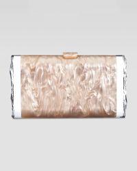 Edie Parker Lara Acrylic Ice Clutch Bag Nude - Lyst