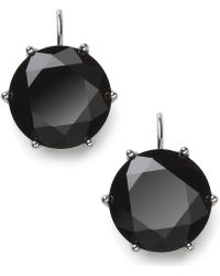 Lauren by Ralph Lauren - Silver-Tone Faceted Jet Stone Drop Earrings - Lyst