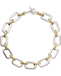 Lauren by Ralph Lauren - Twotone Chain Link Necklace - Lyst