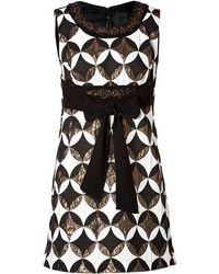 Anna Sui Geometric Deco Dress In Black Multi - Lyst