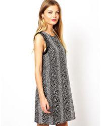 Asos Animal Embellished Trim Shift Dress - Lyst