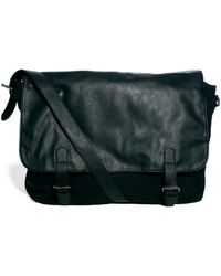 Asos Satchel with Leather Look Flap - Lyst