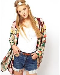 Insight Asos Oversized Kimono In Cut About Oriental Floral Print