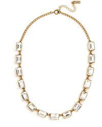 Swarovski - Emerald Cut Gem Necklace - Lyst
