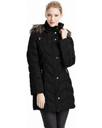 Kenneth Cole - Chevron Quilted Coat - Lyst