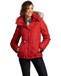 Kenneth Cole - Hooded Puffer Jacket with Faux Fur Trim - Lyst
