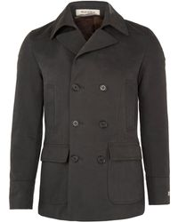 Mr Rick Tailor - Dark Green Cotton Peacoat - Lyst
