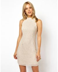 Asos High Neck Embellished Body-Conscious - Lyst