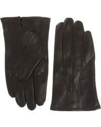 GANT - Leather Touch Screen Gloves - Lyst