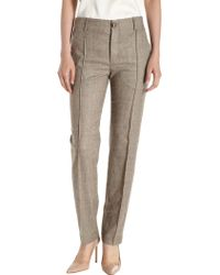 Giada Forte - Pleated Front Plaid Trousers - Lyst